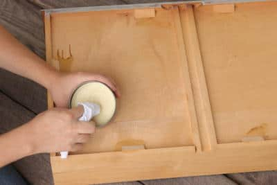 Wooden Drawers With Clear Carnauba Wax